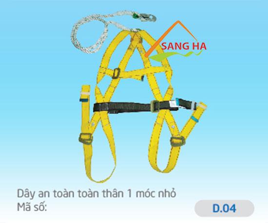 Dây an toàn toàn thân 1 móc nhỏ - D.04