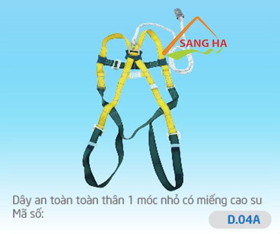 Dây an toàn toàn thân 1 móc nhỏ - D.04A - Chống sốc