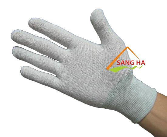 Găng tay chống tĩnh điện thun trắng