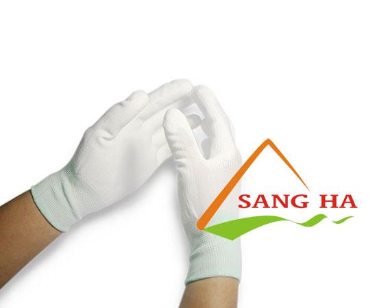 Găng tay phòng sạch vải thun trắng không phủ