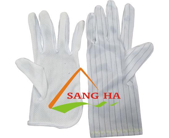 Găng tay vải chống tĩnh điện phủ hạt nhựa