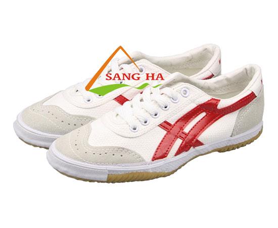 Giày vải bata Thượng Đình sọc đỏ