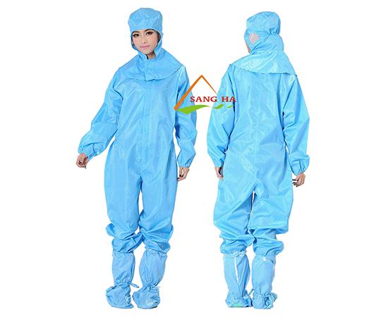 Áo phòng sạch chống tĩnh điện liền quần rời mũ(Không mũ)