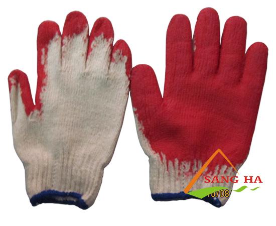 Găng tay len phủ cao su 1 mặt 70g