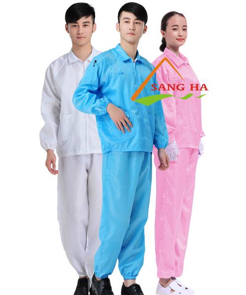 Quần áo phòng sạch chống tĩnh điện (BỘ RỜI, KHÔNG MŨ)