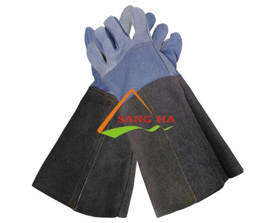 Găng tay da hàn dài nhiều màu