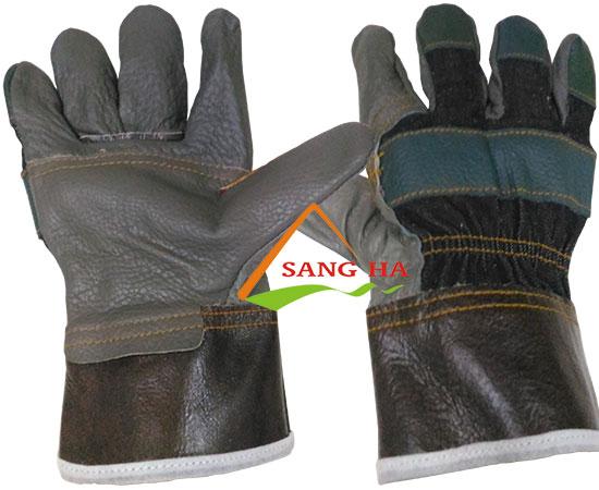 Găng tay da hàn vải jean