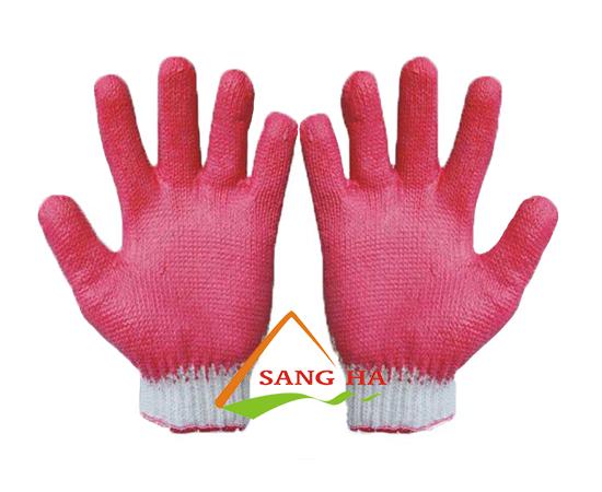 găng tay phủ cao su hai mặt
