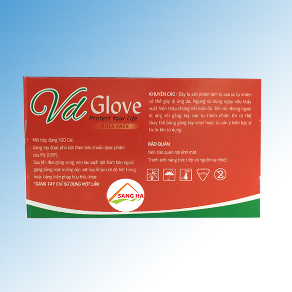 Găng tay y tế nitrile không bột màu tím