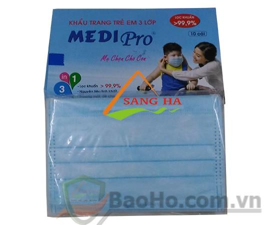 Khẩu trang trẻ em 3 lớp MediPro