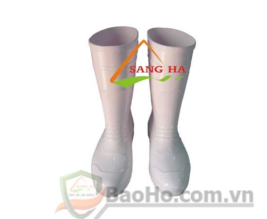 Ủng nhựa PVC màu trắng Vicadi