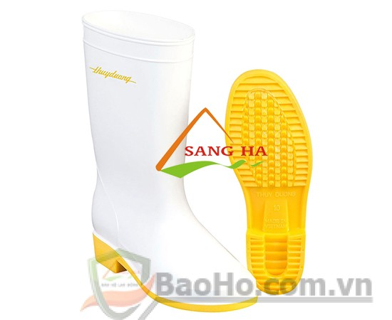 Ủng nhựa trắng đế vàng 287 (size:11->11.5)