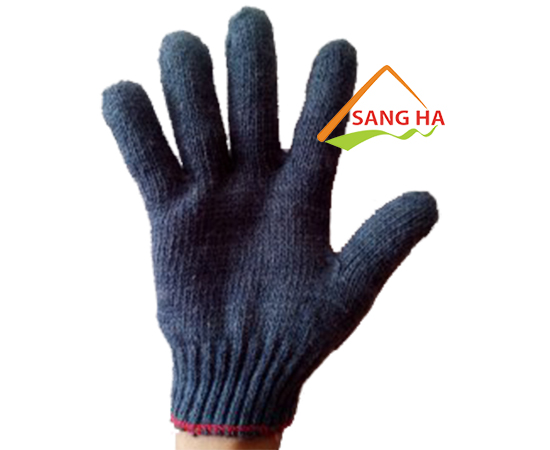 Găng tay sợi màu đen 60g