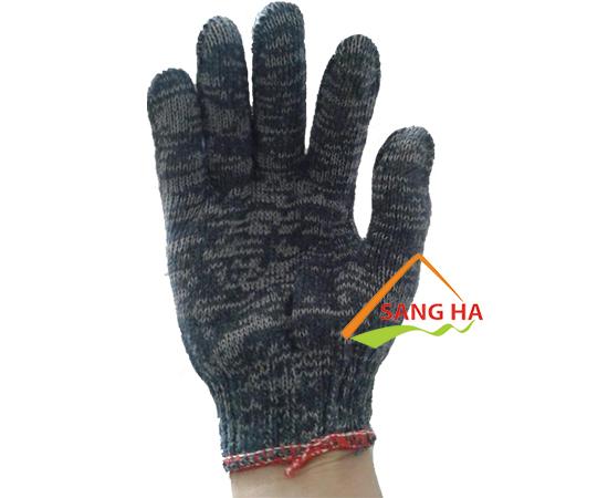 Găng tay sợi len muối tiêu 70g