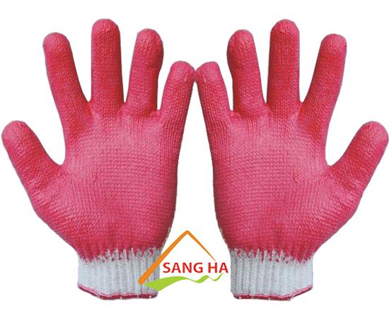 Găng tay phủ cao su 40g