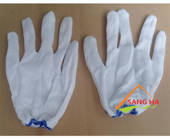 Găng tay vải thun bo cổ tay T5 poly