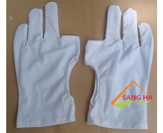 găng tay vải thun lạnh 3 ngón