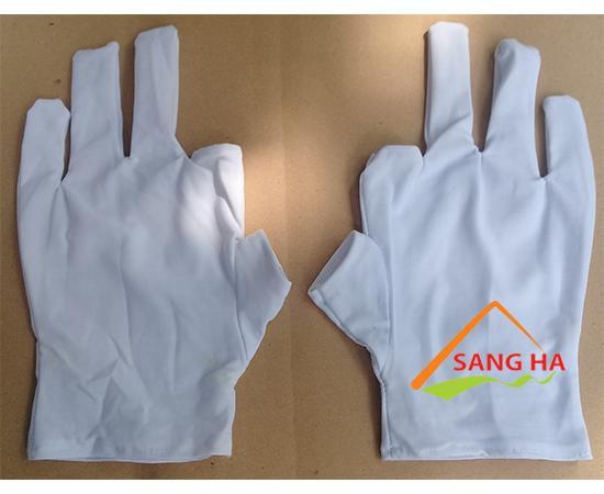Găng tay vải thun lạnh ngắn ngón