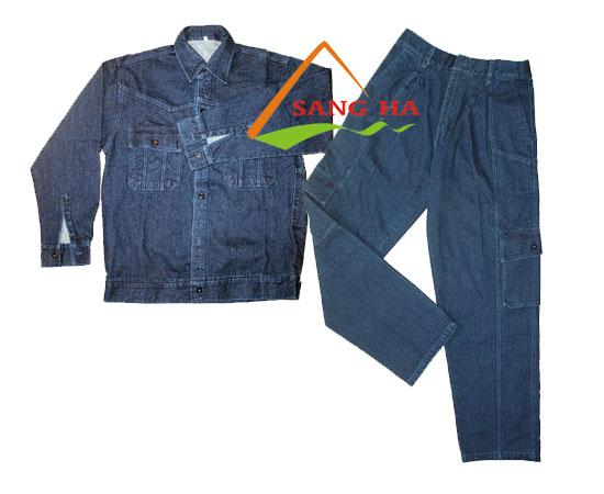 Quần áo bảo hộ công nhân điện lực vải Jean
