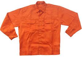 Quần áo bảo hộ công nhân vải Kaki Nam Định màu cam