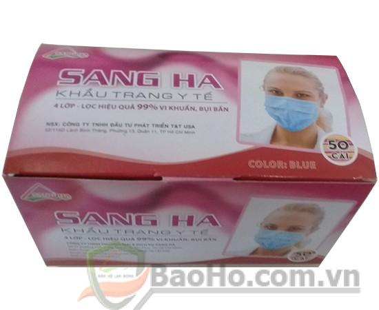 Khẩu trang y tế 4 lớp Sang Hà – màu hồng