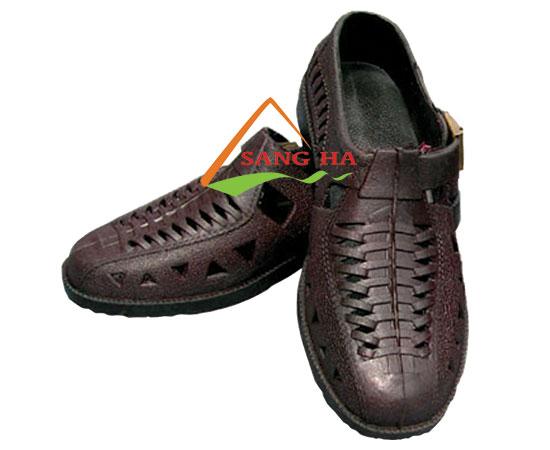Giày nhựa nâu bảo hộ