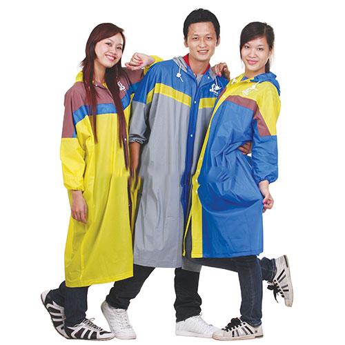 Áo mưa dây kéo phối màu