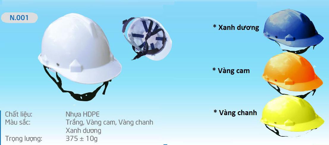 Một mẫu sản phẩm nón bảo hộ do công ty Sang Hà cung cấp
