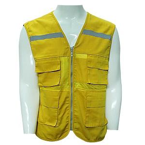 Áo gile phản quang màu vàng