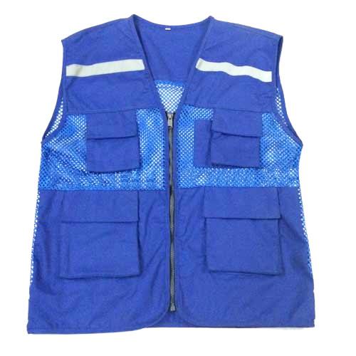 áo gile phản quang mau xanh