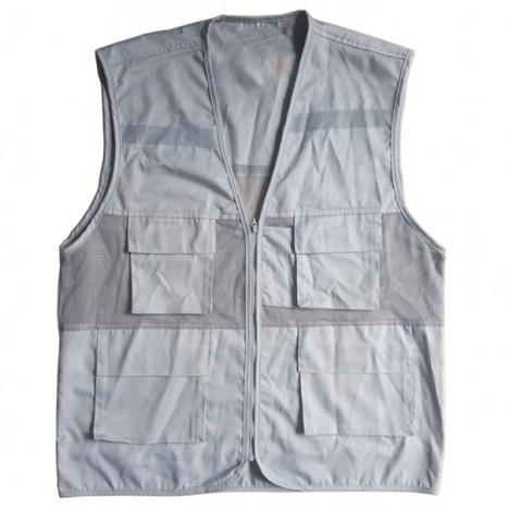 Áo gile phản quang màu bạc