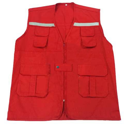 Áo gile phản quang màu đỏ