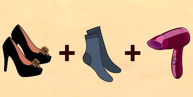 Dùng máy sấy giúp giày vừa chân hơn