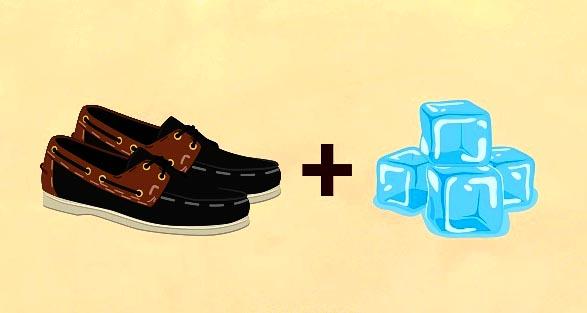 Dùng nước đá cứu vãn giày chật