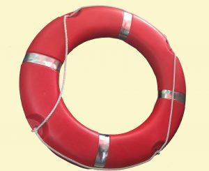 Phao nhựa cứu sinh đỏ