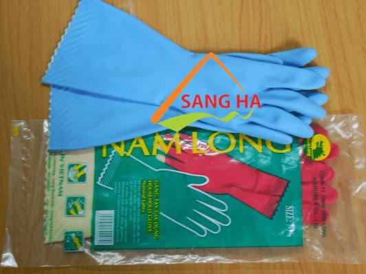 găng tay cao su Nam Long công nghiệp size 7