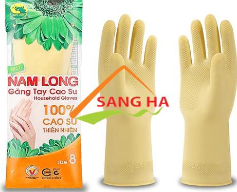 Găng tay cao su Nam Long size 8